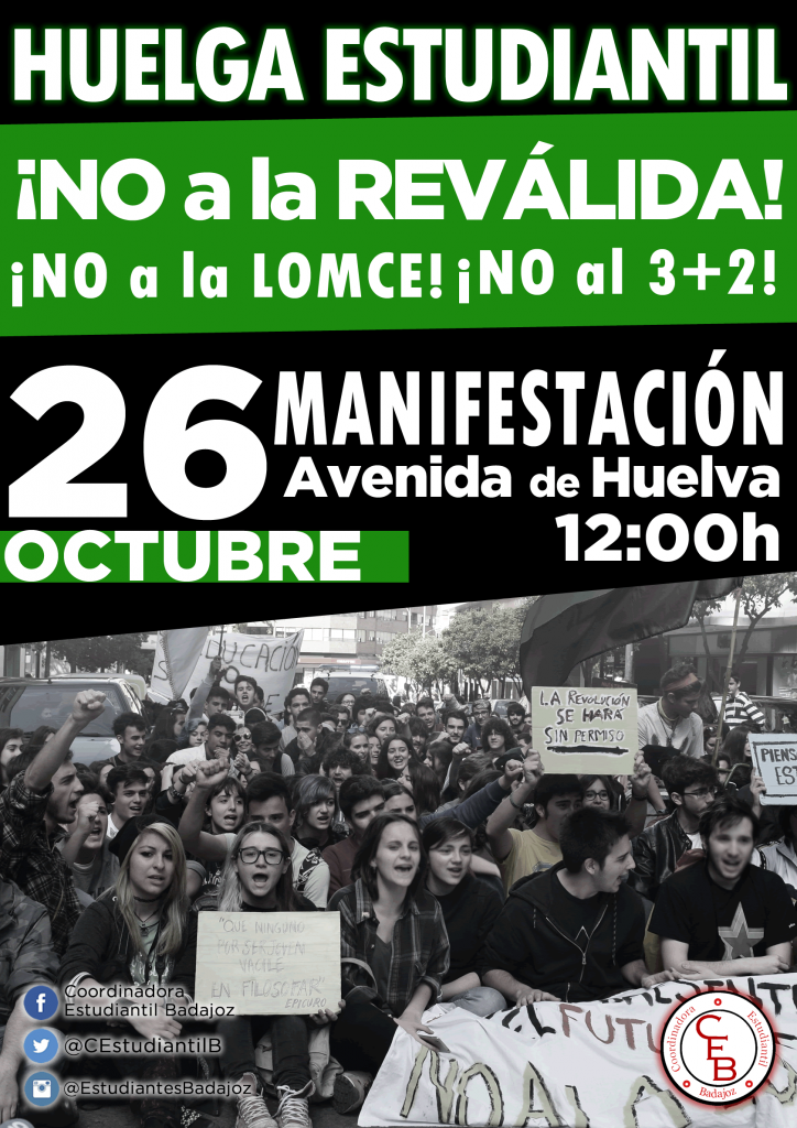 cartel huelga badajoz